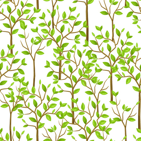 tress: Seamless pattern with garden tress. Background made without clipping mask. Easy to use for backdrop, textile, wrapping paper.
