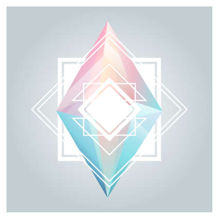 geometric lines: Abstract background with geometric crystals, shapes and lines.