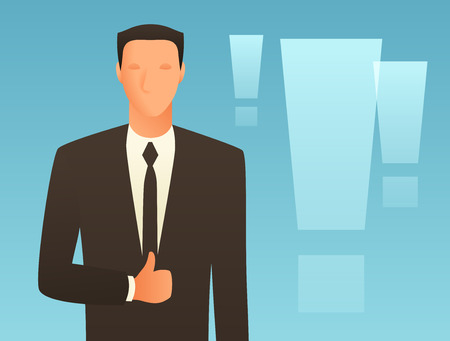 articles: Success business conceptual illustration with businessman. Image for web sites, articles, magazines. Illustration