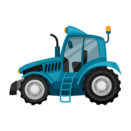 agricultural machinery: Tractor on white background. Abstract illustration of agricultural machinery.