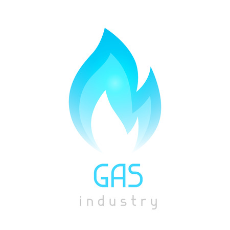 blue flame: Gas blue flame. Industrial conceptual illustration of fire.