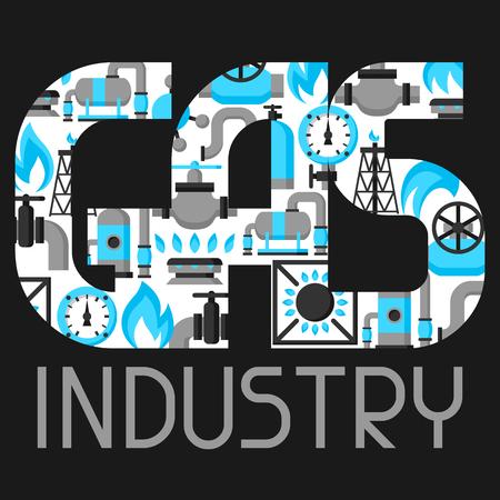 Die Erdgasproduktion, die Injektion und Speicherung. Industrielle Hintergrund Design.