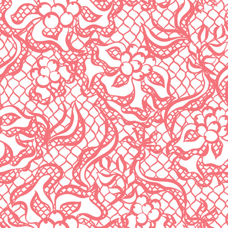 lacework: Seamless lace pattern with flowers. Vintage fashion textile.