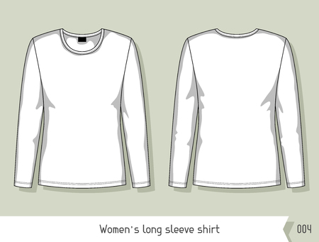 long sleeve shirt: Women long sleeve shirt. Template for design, easily editable by layers. Illustration