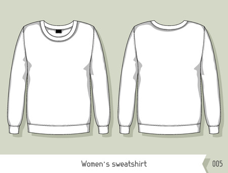easily: Women sweatshirt. Template for design, easily editable by layers.
