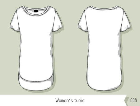 tunic: Women tunic. Template for design, easily editable by layers.