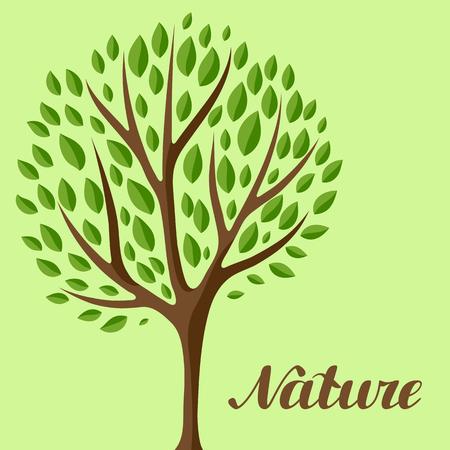 Hintergrund mit abstrakten stilisierten Baum. Natürliche Abbildung. Vektorgrafik