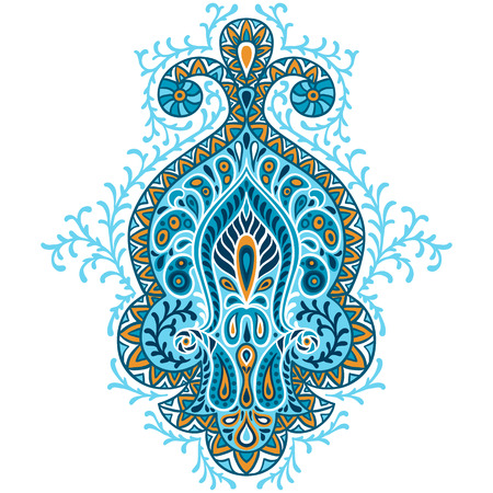Indian ethnic ornament. Hand drawn decorative element.