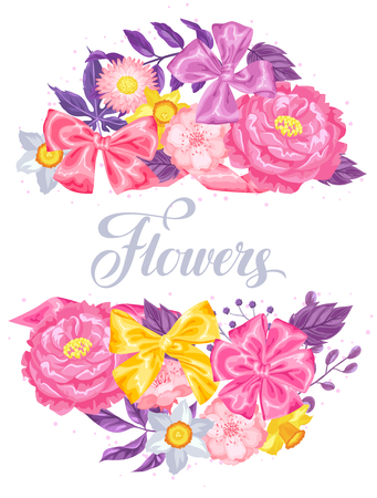 daisy pink: Invitation card with decorative delicate flowers. Image for wedding invitations, romantic cards, posters. Illustration
