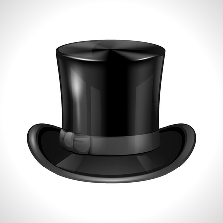 dressy: Realistic black cylinder on white background. Meshes and gradients. Illustration