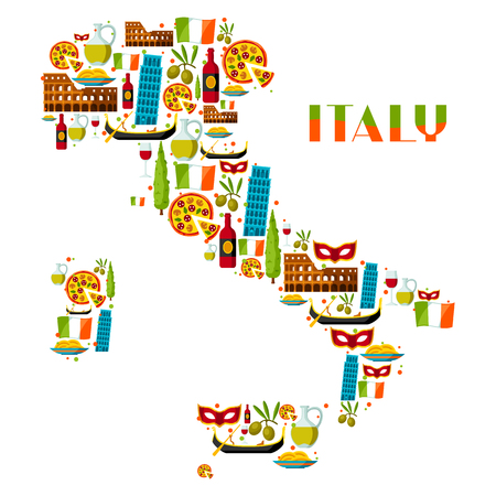 italy background: Italy background design. Italian symbols and objects