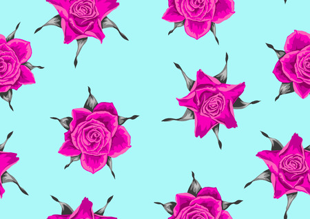 wrappers: A Seamless pattern with pink roses. Beautiful decorative flowers