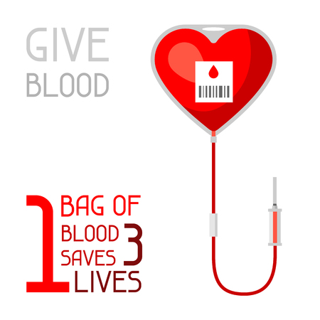 1 bag of blood saves 3 lives. Medical and healthcare concept
