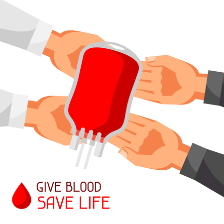 Donate blood save life. Medical and healthcare concept