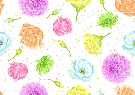 decorative wallpaper: Seamless pattern with decorative delicate flowers. Easy to use for backdrop, textile, wrapping paper, wallpaper