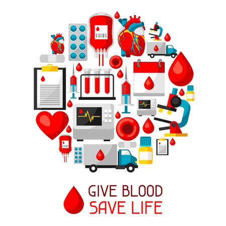 Give blood save life. Illustration