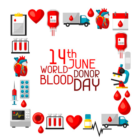 give: Background with blood donation items. Medical and health care objects