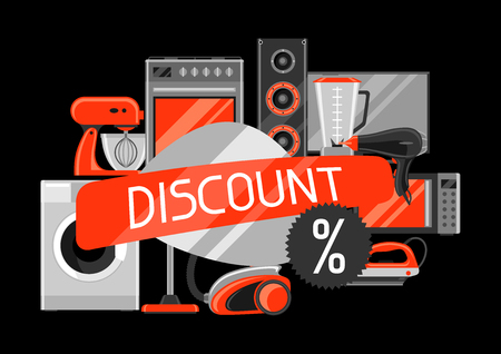 Discount with home appliances.