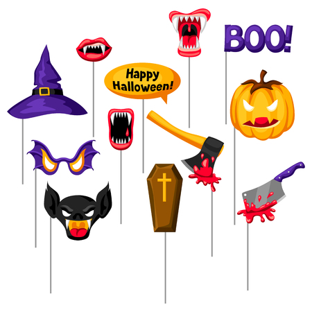 Halloween photo booth props. Accessories for festival and party.