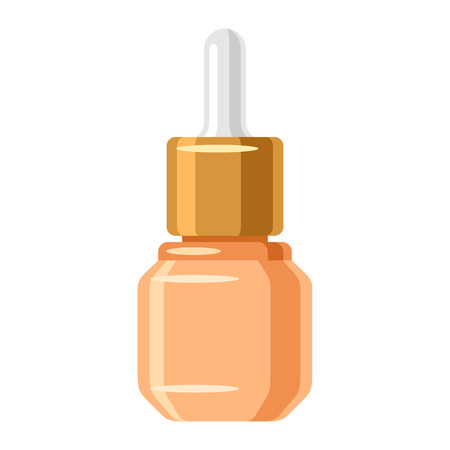 Serum for face. Illustration of object on white background in flat design style