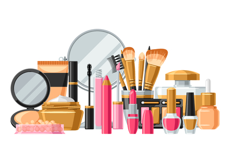 Cosmetics for skincare and makeup.