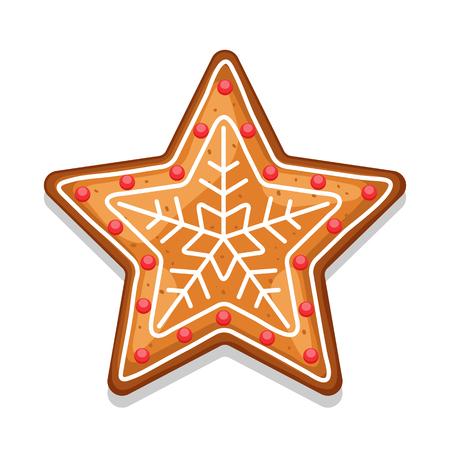 Gingerbread cookies star. Illustration