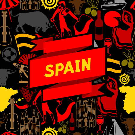 Spanish traditional symbols and objects