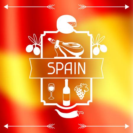 Bandera de alimentos españoles.