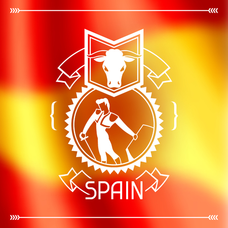 Spanish corrida banner.