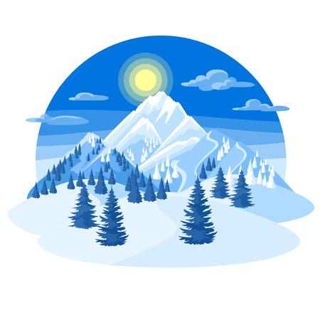 Winter landscape icon.