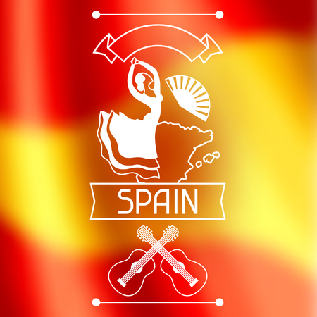 Spanish flamenco banner. Illustration