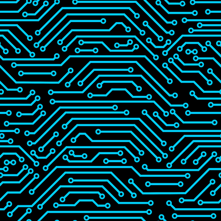 Circuit board seamless pattern. A background of microchip elements.