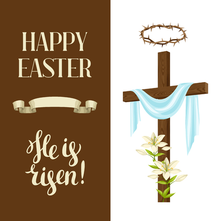 Happy Easter concept illustration or greeting card