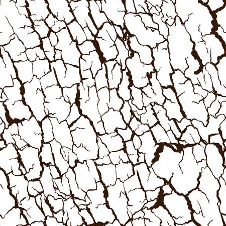 Vector seamless pattern of bark texture. Wood natural structure. 向量圖像