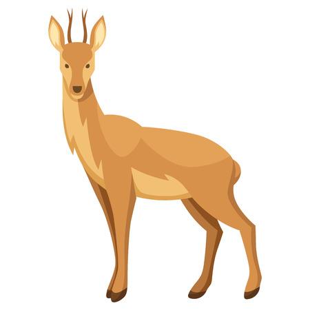 Stylized illustration of deer on white background.