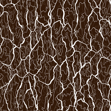 Vector seamless pattern of bark texture. Wood natural structure.  イラスト・ベクター素材