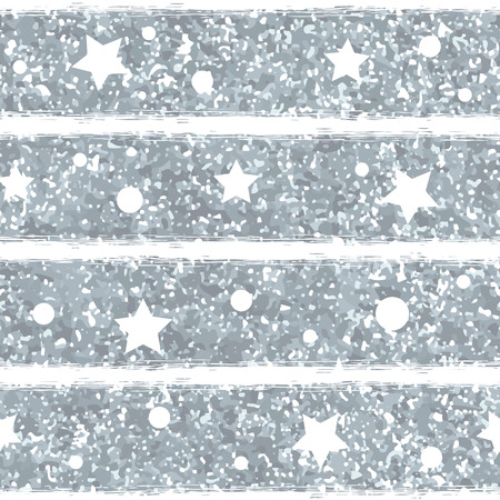 Abstract seamless pattern with silver glitter texture.