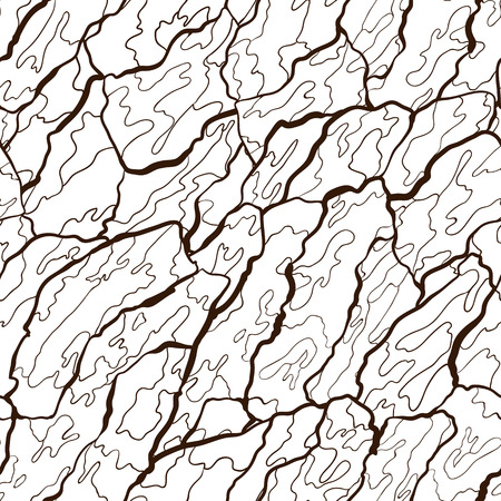 Vector seamless pattern of bark texture. Wood natural structure. Illustration