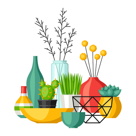 Home decoration vases and flower pots