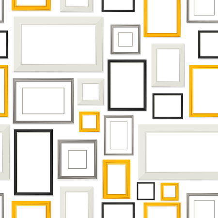 Pattern of various frames for pictures Vettoriali