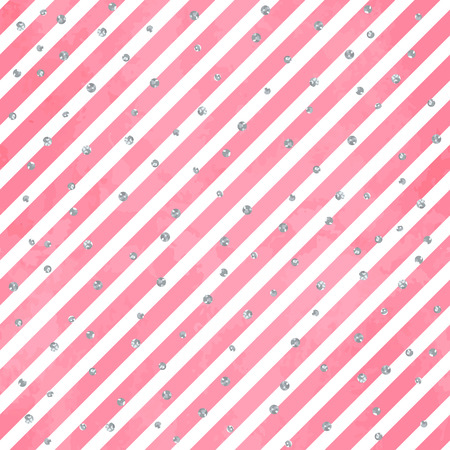 Abstract seamless pattern on aquarelle background with stripes.