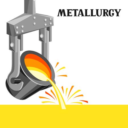 Illustration de poche métallurgique. Équipement industriel pour la coulée du métal.