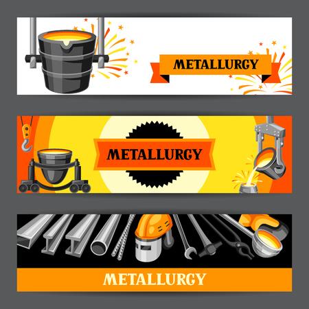 Conception de bannières métallurgiques. Articles et équipements industriels.