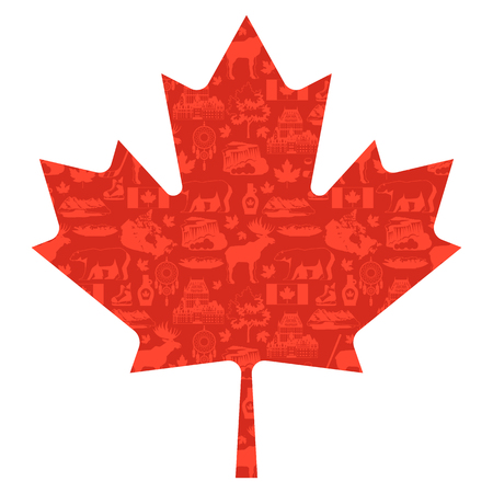 Canada background design. Canadian traditional symbols and attractions. 写真素材 - 108270725