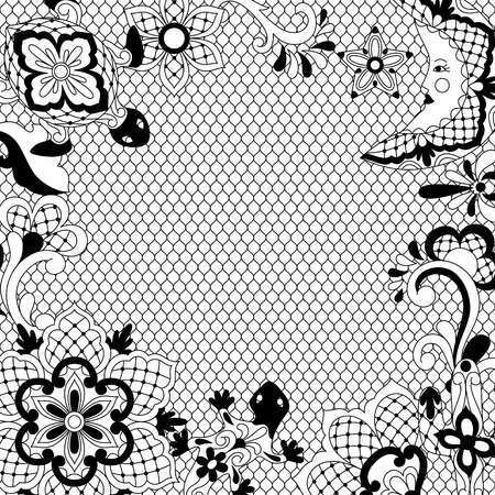 Mexican lace background design.