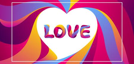 Happy Valentine Day greeting card. Love stylized typography. Romantic background. weeding design. Illustration