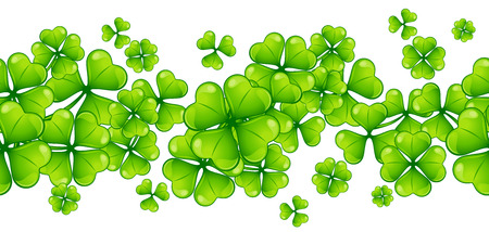 Saint Patricks Day seamless pattern with clover. Holiday illustration with Irish festive national plant.