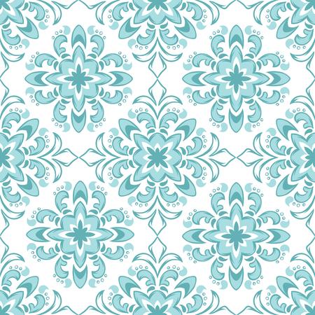 Portuguese azulejo ceramic tile pattern. Ethnic folk ornament. Mediterranean traditional ornament. Italian pottery, mexican talavera or spanish majolica.