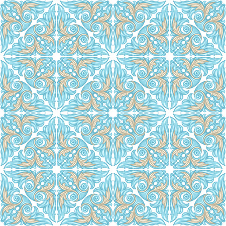 Portuguese azulejo ceramic tile pattern. Ethnic folk ornament. Mediterranean traditional ornament. Italian pottery, mexican talavera or spanish majolica. Stock fotó - 121748504