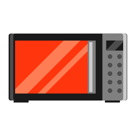 Icon of microwave oven. Home appliance flat illustration.